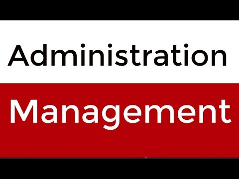 A Terminology Between Management And Administration