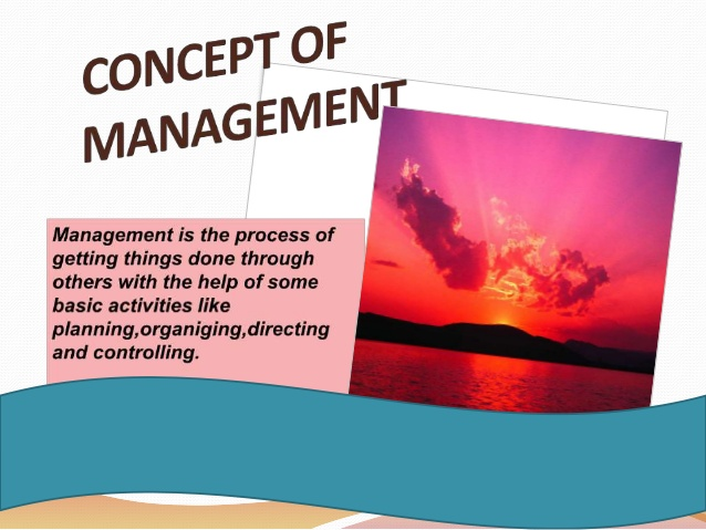Concept Of Management In Detail